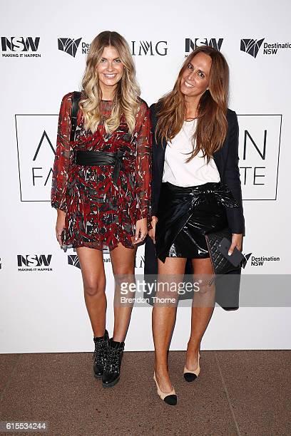 Elle Ferguson and Tash Sefton arrives at the Australian Fashion Laureate Awards on October 19 2016 in Sydney Australia