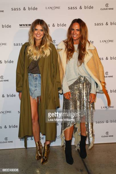 Elle Ferguson and Tash Sefton attend the Sass Bide show at MercedesBenz Fashion Week Resort 18 Collections at Bay 2224 Carriageworks on May 15 2017...