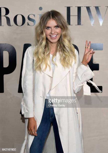 Elle Ferguson attends the launch of the Rosie HW x PAIGE Collection hosted by Rosie HuntingtonWhiteley and Paige AdamsGeller at Ysabel on February 15...