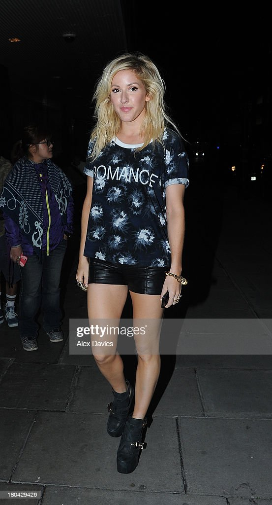 Elle Gouilding sighting leaving the Elle party awards ahead of London Fashion Week. on September 12, 2013 in London, England.