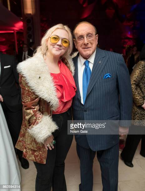 Elle King and Clive Davis attend the TJ Martell 42nd Annual New York Honors Gala at Guastavino's on October 17 2017 in New York City