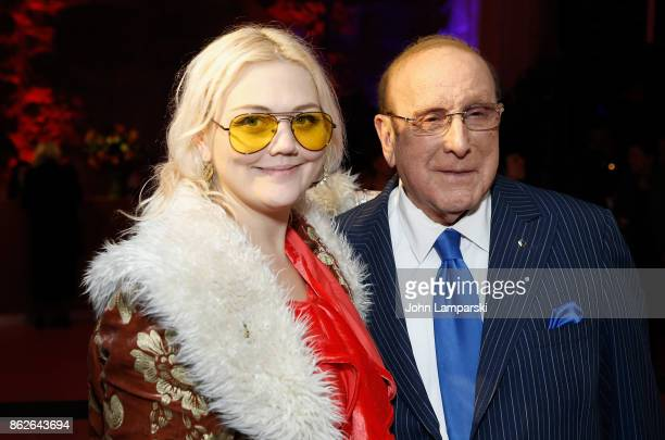 Elle King and Clive Davis attend TJ Martell 42nd Annual New York Honors Gala at Guastavino's on October 17 2017 in New York City