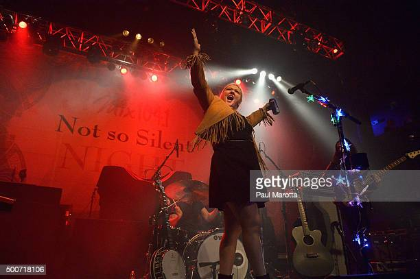 Elle King performs at Mix 1041 Not So Silent Night Boston at House of Blues on December 9 2015 in Boston Massachusetts