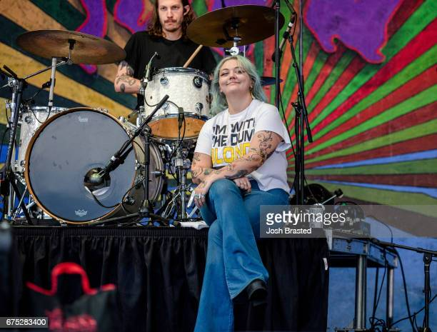 Elle King performs at the New Orleans Jazz Heritage Festival at Fair Grounds Race Course on April 30 2017 in New Orleans Louisiana