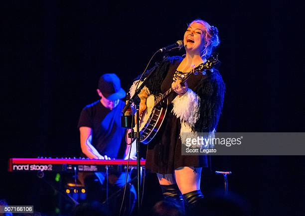 Elle King performs during her Love Stuff Tour at Majestic Theater on January 27 2016 in Detroit Michigan