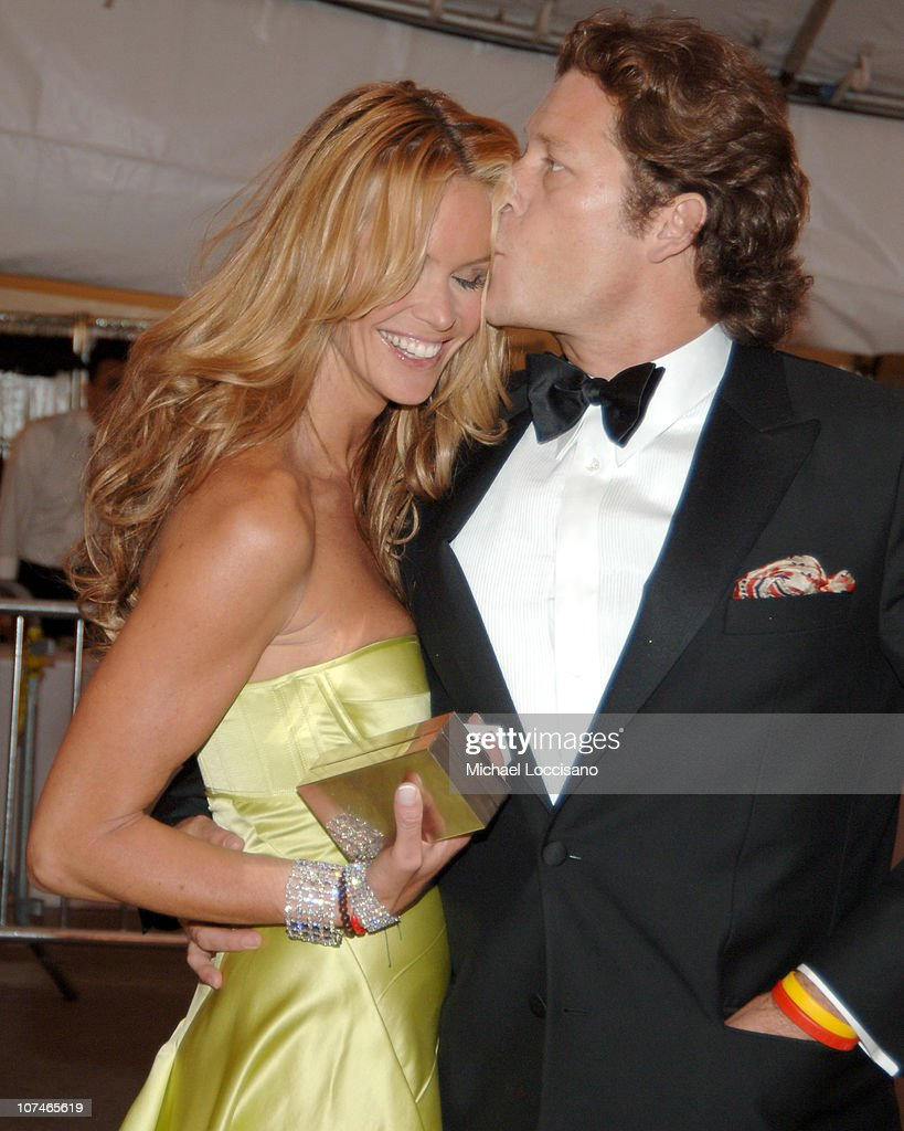 Elle Macpherson and <a gi-track='captionPersonalityLinkClicked' href=/galleries/search?phrase=Arpad+Busson&family=editorial&specificpeople=2326600 ng-click='$event.stopPropagation()'>Arpad Busson</a> during 'Chanel' Costume Institute Gala Opening at the Metropolitan Museum of Art - Departures at The Metropolitan Museum of Art in New York City, New York, United States.