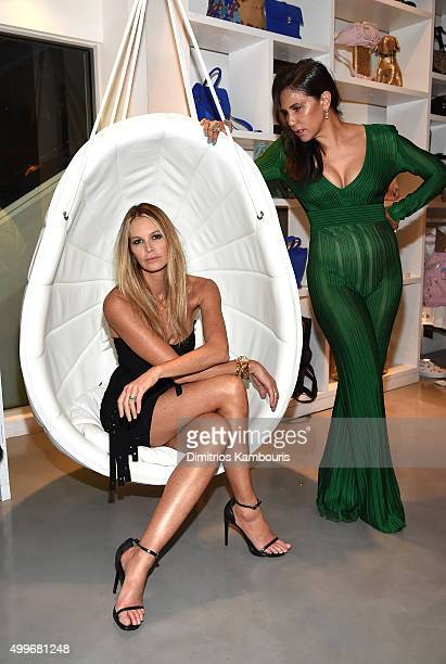 Elle Macpherson and Laurie Laurie Lynn Stark attend Chrome Hearts Celebrates Art Basel With Laduree Sean Kelly And A Live Performance By Abstrakto at...