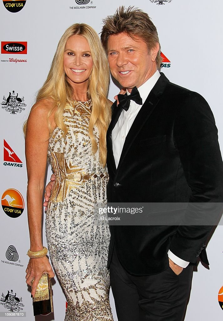 Elle Macpherson and Richard Wilkins attend the 2013 G'Day USA Black Tie Gala at JW Marriott Los Angeles at L.A. LIVE on January 12, 2013 in Los Angeles, California.