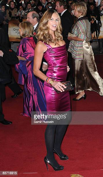 Elle Macpherson arrives at the world premiere of the James Bond film 'Quantum of Solace' on October 29 2008 in Leicester Square London England