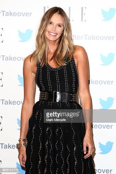 Elle Macpherson arrives at TwitterAU HQ on September 12 2016 in Sydney Australia