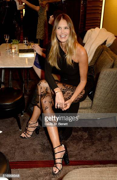 Elle Macpherson attends the BFC/Vogue Designer Fashion Fund 2016 winners announcement at the Bulgari Hotel on March 22 2016 in London England