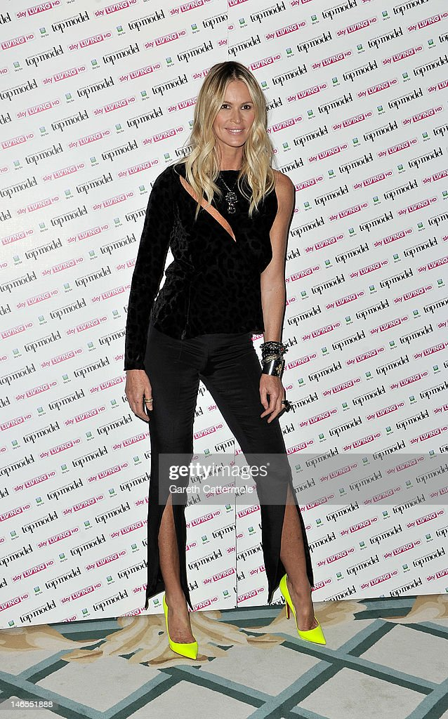 <a gi-track='captionPersonalityLinkClicked' href=/galleries/search?phrase=Elle+Macpherson&family=editorial&specificpeople=202490 ng-click='$event.stopPropagation()'>Elle Macpherson</a> attends the launch of Sky Living's model search at Claridges Hotel on June 19, 2012 in London, England.