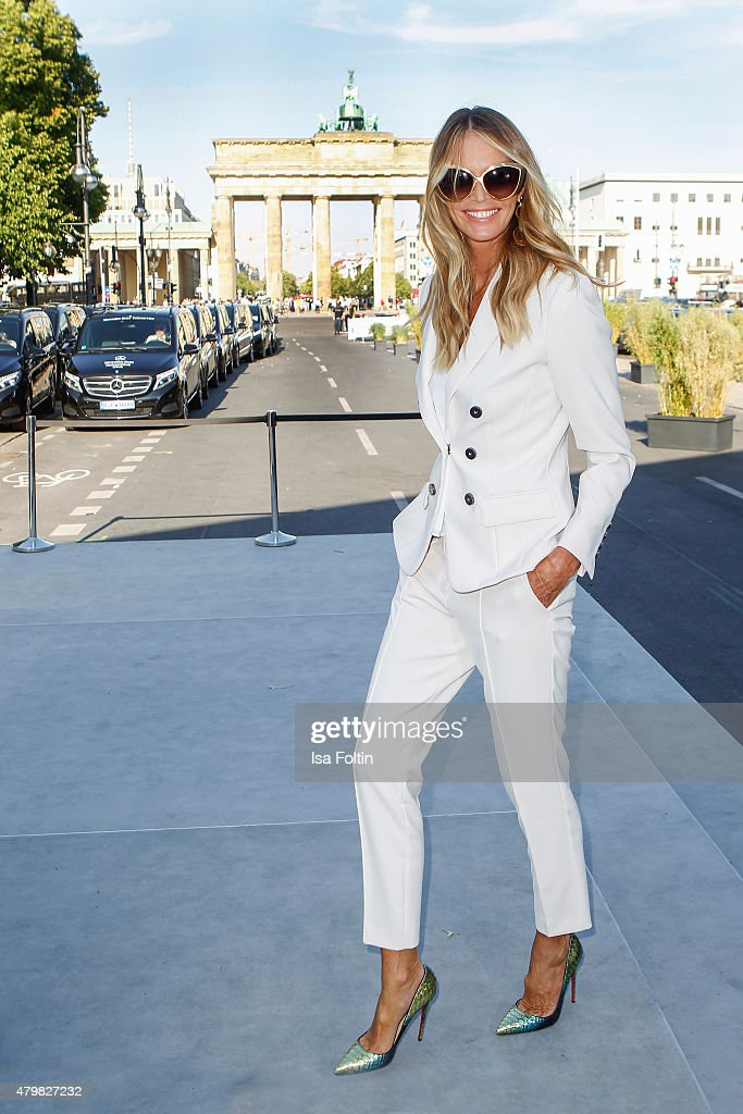 Elle Macpherson attends the Marc Cain Arrivals at Mercedes-Benz Fashion Week Berlin Spring/Summer 2016 on July 7, 2015 in Berlin, Germany.