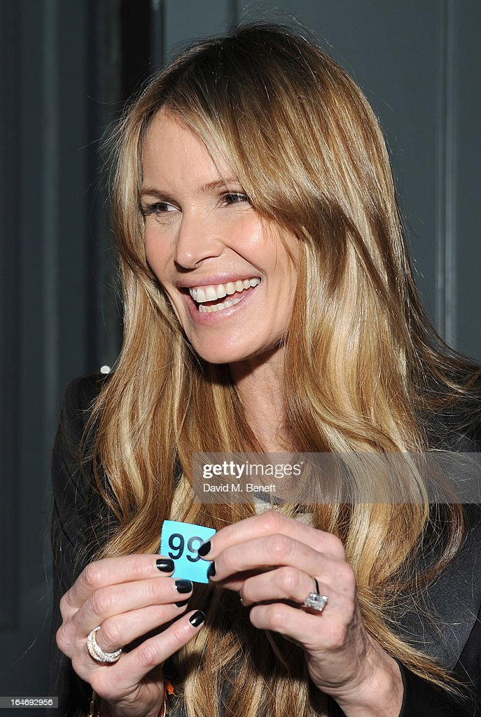 USE. <a gi-track='captionPersonalityLinkClicked' href=/galleries/search?phrase=Elle+Macpherson&family=editorial&specificpeople=202490 ng-click='$event.stopPropagation()'>Elle Macpherson</a> attends The Right To Play host a private dinner for Barry the Dog fitness trainer ahead of his husky expedition across the Arctic at 3 Cromwell Road on March 26, 2013 in London, England.