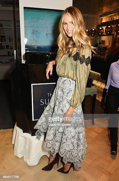 Elle Macpherson attends The Super Elixir 1st anniversary dinner at The Grace Restaurant at Grace Belgravia on October 27 2015 in London England
