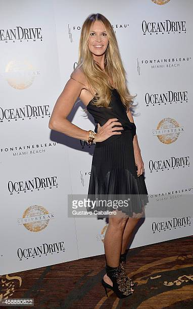 Elle Macpherson celebrates Ocean Drive Magazine November Cover at Stripsteak on November 12 2014 in Miami Beach Florida