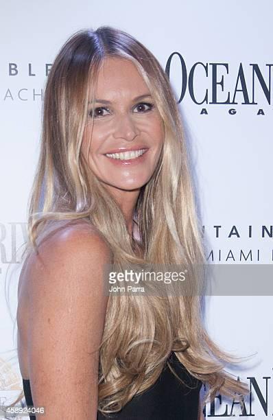Elle Macpherson celebrates Ocean Drive Magazine's November cover at Stripsteak on November 12 2014 in Miami Beach Florida