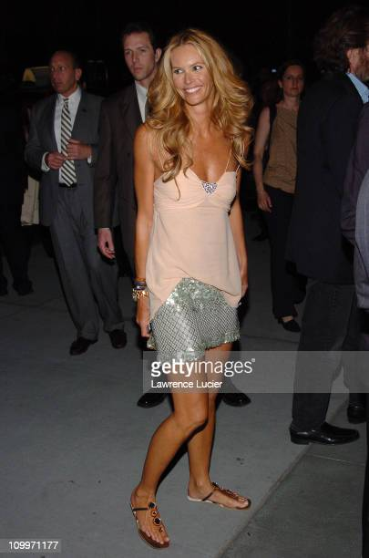 Elle MacPherson during 4th Annual Tribeca Film Festival The Interpreter Premiere After Party Arrivals at The Museum of Modern Art in New York City...