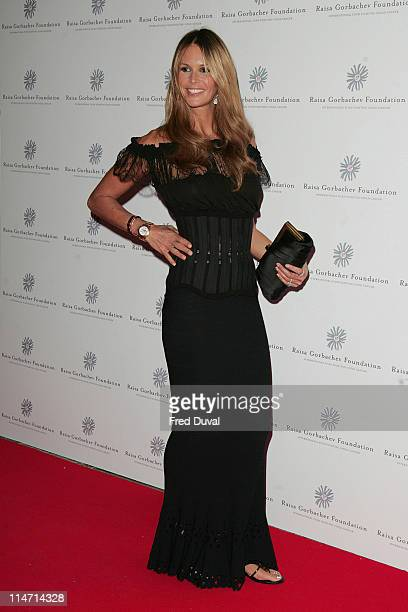 Elle MacPherson during Raisa Gorbachev Foundation Party Red Carpet at Hampton Court Palace in London United Kingdom