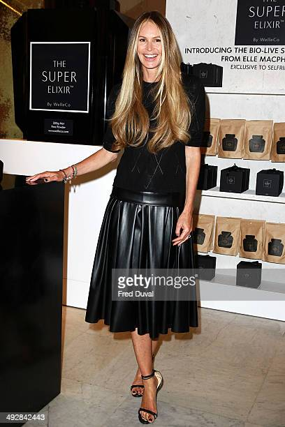 Elle Macpherson Launches The Super Elixir At at Selfridges on May 22 2014 in London England