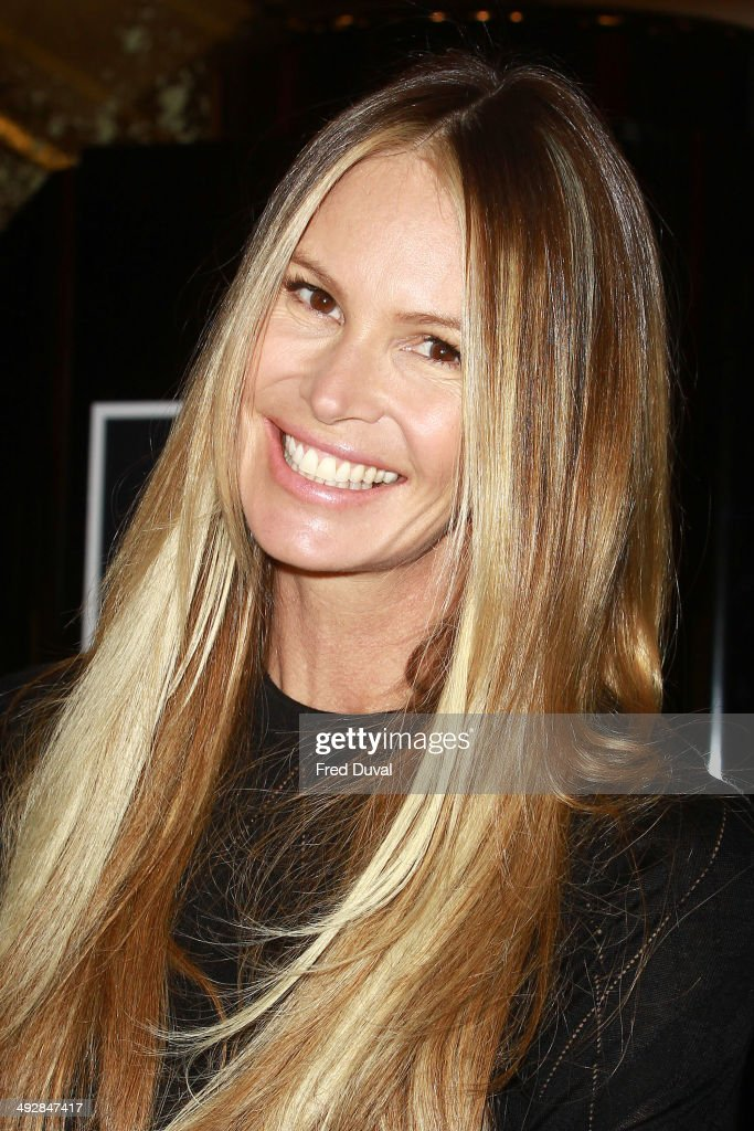 Elle Macpherson Launches The Super Elixir at Selfridges on May 22, 2014 in London, England.