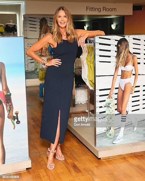 Elle Macpherson poses during the launch of 'Elle Macpherson Body' at Myer Sydney on September 13 2016 in Sydney Australia