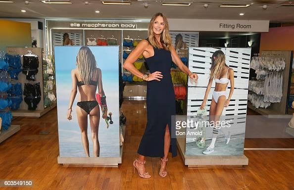 Elle Macpherson poses during the launch of 'Elle Macpherson Body' at Myer Sydney on September 13 2016 in Sydney Australia