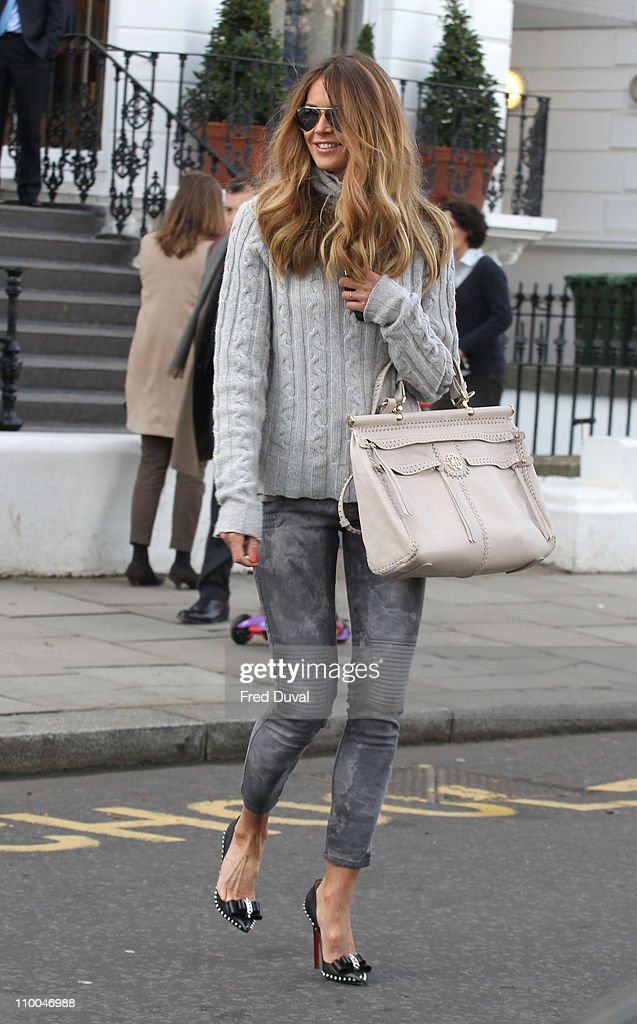 Elle Macpherson sighted on the school run on March 14 2011 in London England
