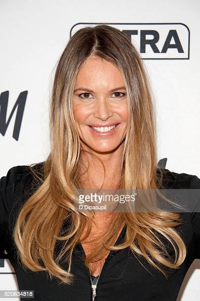 Elle Macpherson visits 'Extra' at their New York studios at HM in Times Square on April 12 2016 in New York City
