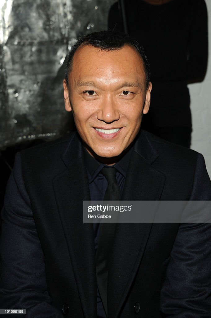 Elle magazine Creative Director <a gi-track='captionPersonalityLinkClicked' href=/galleries/search?phrase=Joe+Zee&family=editorial&specificpeople=2257766 ng-click='$event.stopPropagation()'>Joe Zee</a> attends the Rodarte Fall 2013 fashion show during Mercedes-Benz Fashion Week at 548 West 22nd Street on February 12, 2013 in New York City.