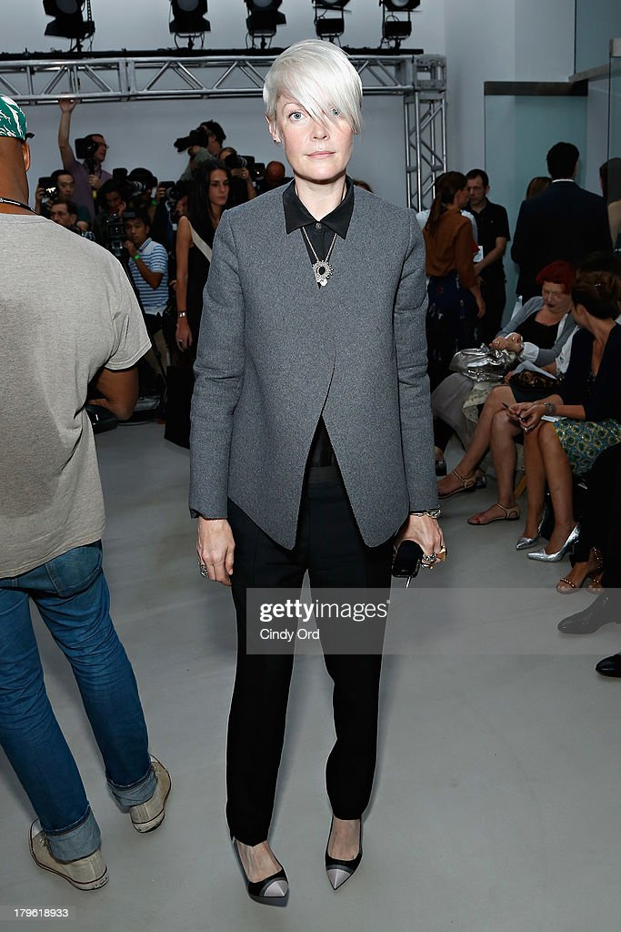 Elle Magazine Senior Style Editor Kate Lanphear attends the Creatures of the Wind fashion show during MercedesBenz Fashion Week at Pace Gallery...