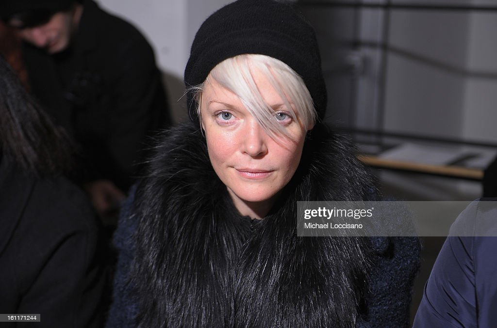 Elle Magazine Senior Style Editor Kate Lanphear attends the Louise Goldin fall 2013 fashion show during MADE Fashion Week at Milk Studios on February...