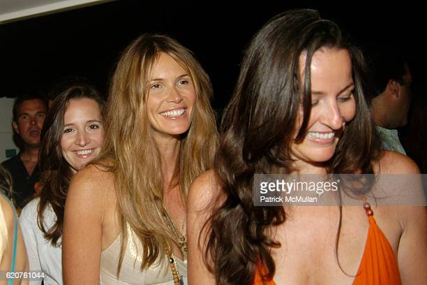 Elle McPherson and Victoria attend Miguel Forbes celebrates the 4th of July aboard The Highlander at The Highlander on July 4 2008 in Sag Harbor NY