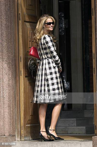 Elle McPherson at the christening of Achileas Andreas 3rd child of Crown Prince and Crown Princess Pavlos of Greece at the Greek cathedral in London