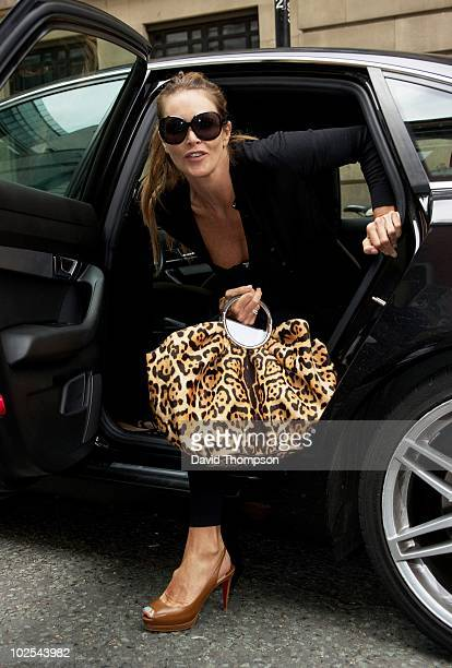 Elle Mcpherson is sighted outside the Radio 2 studios on June 30 2010 in London England
