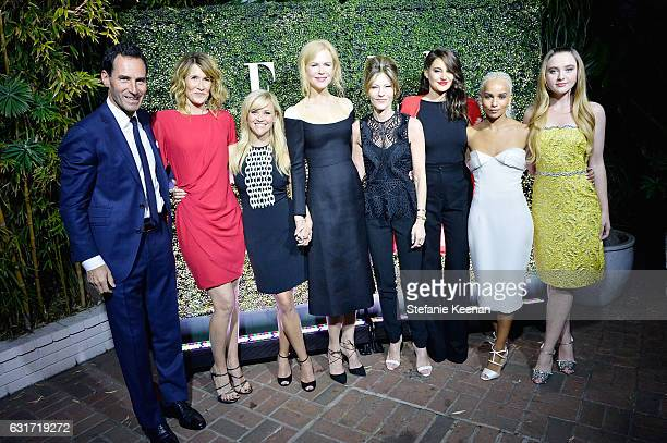 Elle Publisher SVP Kevin O'Malley Laura Dern Reese Witherspoon Nicole Kidman ELLE EditorinChief Robbie Myers Shailene Woodley and Zoe Kravitz attend...