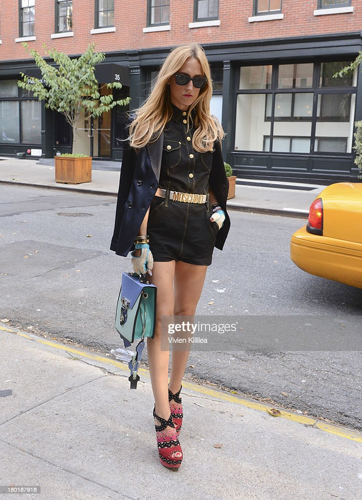 Elle Shane is seen outside the Dannijo presentation during Mercedes-Benz Fashion Week Spring 2014 at Industria Studios on September 9, 2013 in New York City.