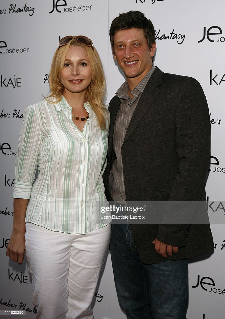 Elle Travis and Josh Fineman during Phoebe Price Launches 'Phoebe's Phantasy' by Lotion Glow at Kaje Store in Beverly Hills, California, United States.