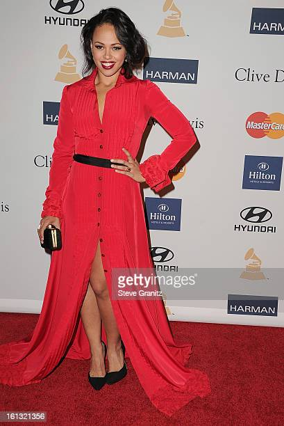 Elle Varner arrives at the 55th Annual GRAMMY Awards PreGRAMMY Gala and Salute to Industry Icons honoring LA Reid held at The Beverly Hilton on...