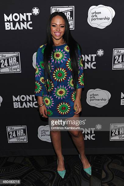 Elle Varner attends Montblanc Presents The 13th Annual 24 Hour Plays On Broadway After Party at BB King Blues Club Grill on November 18 2013 in New...