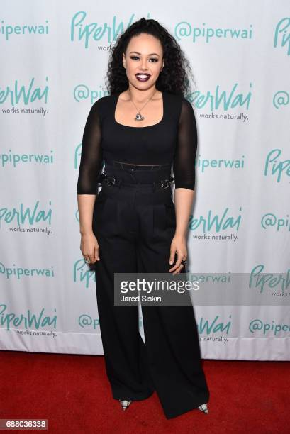Elle Varner attends PiperWai NYC Launch Event at Vnyl on May 24 2017 in New York City