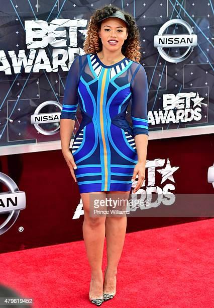 Elle Varner attends the 2015 BET awards on June 28 2015 in Los Angeles California