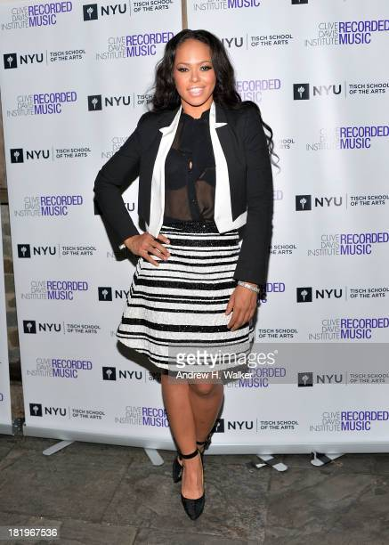 Elle Varner attends the Clive Davis Institute Of Recorded Music 10th Anniversary Party at Gallow Green at the McKittrick Hotel on September 26 2013...