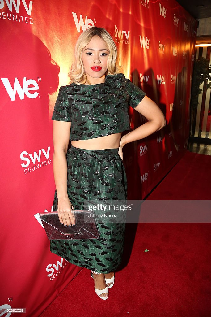 <a gi-track='captionPersonalityLinkClicked' href=/galleries/search?phrase=Elle+Varner&family=editorial&specificpeople=5926946 ng-click='$event.stopPropagation()'>Elle Varner</a> attends the 'SWV Reunited' series premiere at Jazz Room at the General on January 15, 2014 in New York City.