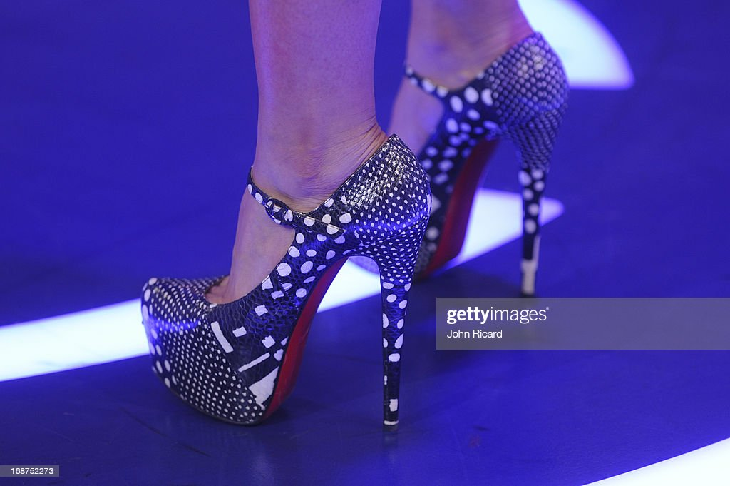 Elle Varner (shoe detail) Presents 2013 BET Awards Nominations at 106 & Park Studio on May 14, 2013 in New York City.