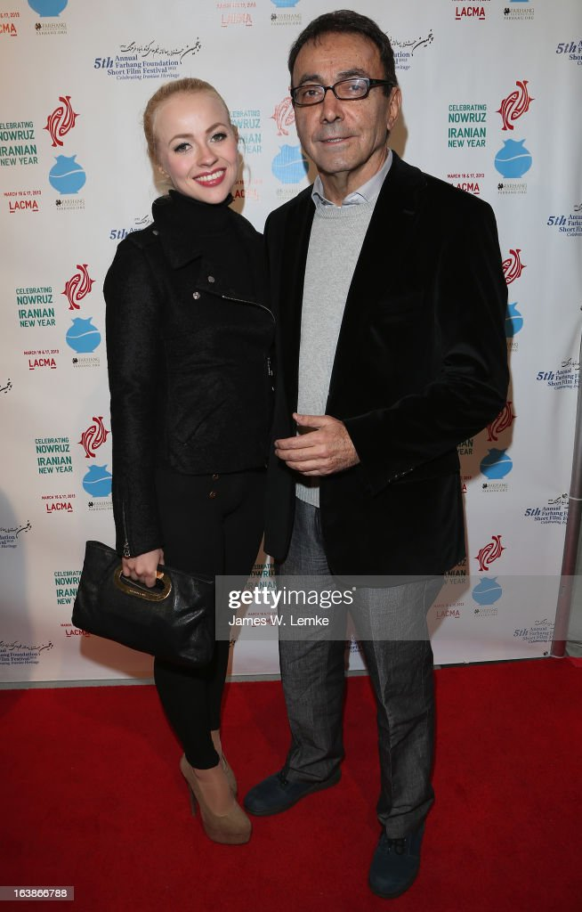 Ellen Alexander and Mark Amin attend the 2013 Farhang Foundation Short Film Festival held at the Bing Theatre at LACMA on March 16, 2013 in Los Angeles, California.