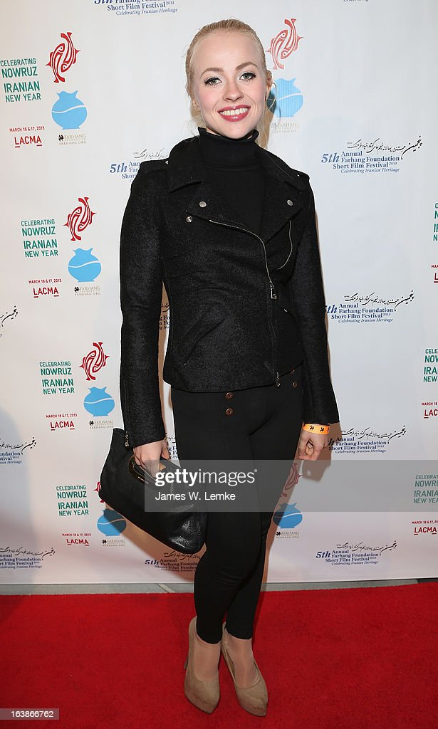Ellen Alexander attends the 2013 Farhang Foundation Short Film Festival held at the Bing Theatre at LACMA on March 16, 2013 in Los Angeles, California.