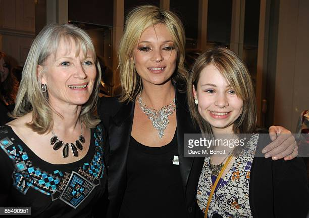 Ellen Atkinson Kate Moss and Lucy Atkinson attend the Mummy Rocks official launch and charity auction in aid of the Great Ormond Street Hospital...