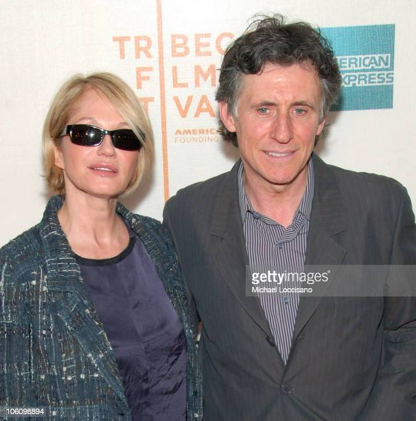 Ellen Barkin and Gabriel Byrne during 5th Annual Tribeca Film Festival Premiere of 'WahWah' May 4 2006 at Tribeca Performing Arts Center in New York...