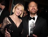 Ellen Barkin and John Benjamin Hickey attend 'The Normal Heart' After Party for The 2011 Tony Awards at the Amsterdam Ale House on June 12 2011 in...